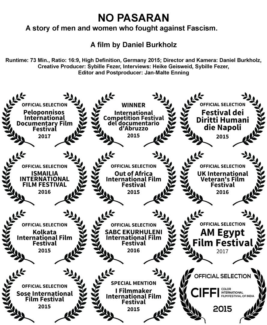 Filmestival Nominierungen No Pasaran